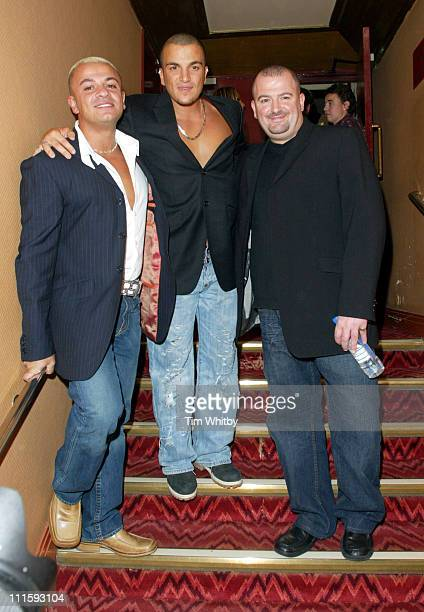 Peter Andre and his brothers during Charity Performance of 'Chicago' in Aid of Breakthrough Breast Cancer After Party at Adelphi Theatre in London...