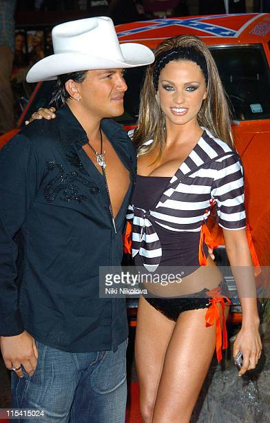 Peter Andre and Jordan AKA Katie Price during 'The Dukes of Hazzard' London Premiere Arrivals at Vue Leicester Square in London Great Britain
