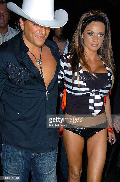 Peter Andre and Jordan AKA Katie Price during 'The Dukes of Hazzard' London Premiere After Party at Texas Embassy Cantina in London United Kingdom