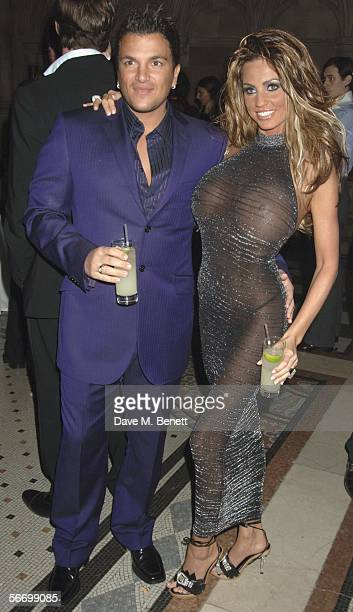 Peter Andre and Jordan attend Andy and Patti Wongs Chinese New Year Party at the Royal Courts Of Justice on January 28 2006 in London England The...
