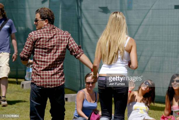 Peter Andre and Jordan during Southern FM's 'Party in the Park' Sponsored by O2 Music Backstage at Preston Park in Brighton Great Britain