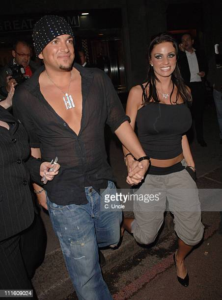 Peter Andre and Katie Price during 2006 Sony Radio Academy Awards Departures at Grosvenor House in London Great Britain
