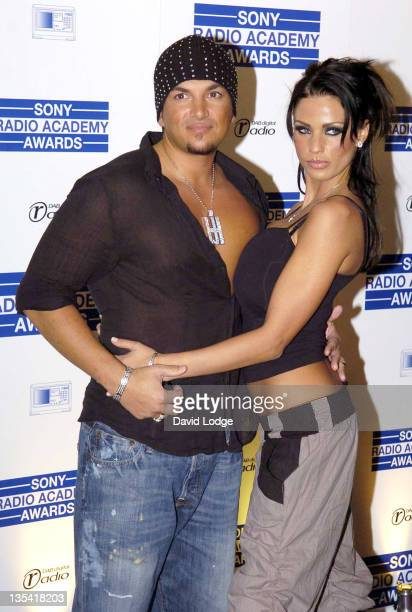 Peter Andre and Katie Price during 2006 Sony Radio Academy Awards - Inside Arrivals at Grosvenor House in London, Great Britain.