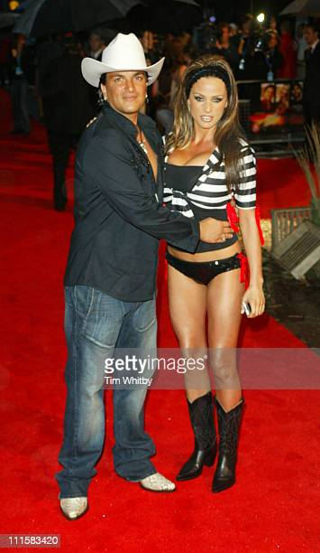 "Peter Andre and Katie Price during ""The Dukes of Hazzard"" London Premiere - Outside Arrivals at Vue Leicester Square in London, Great Britain."