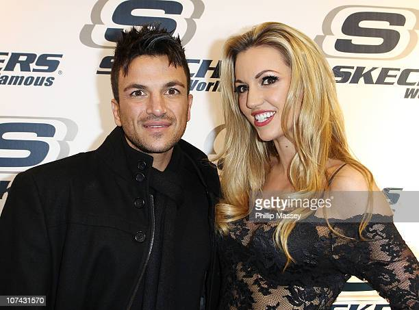 Peter Andre and Rosanna Davison appear at the opening of the Skechers Irish flagship Store on Henry Street on December 8, 2010 in Dublin, Ireland.
