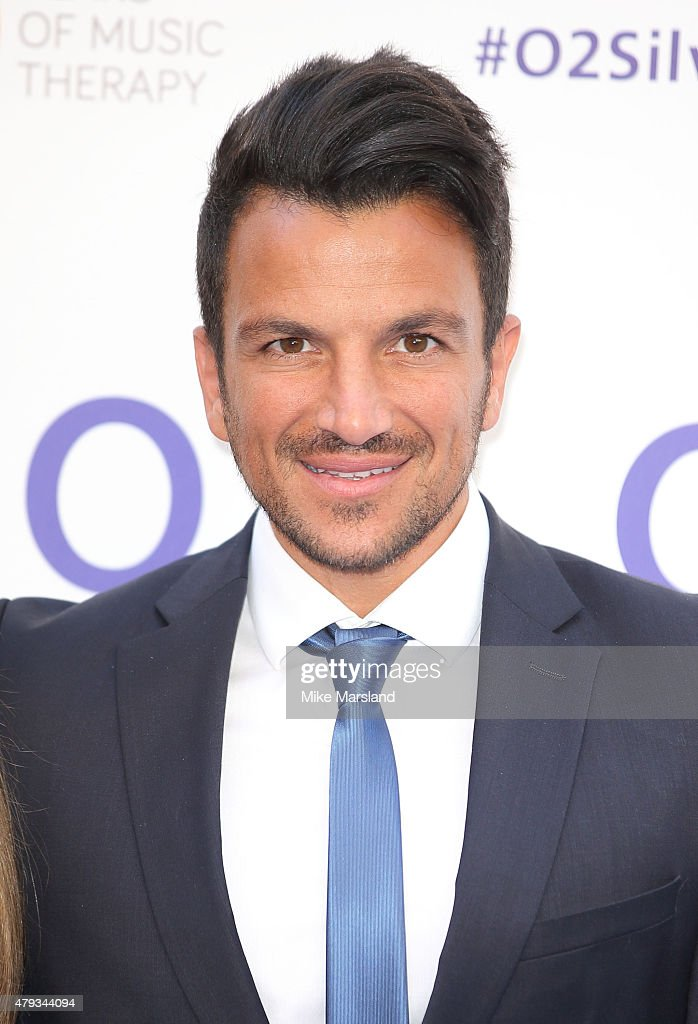 Peter Andre arrives at the Nordoff Robbins O2 Silver Clef Awards at The Grosvenor House Hotel on July 3, 2015 in London, England.