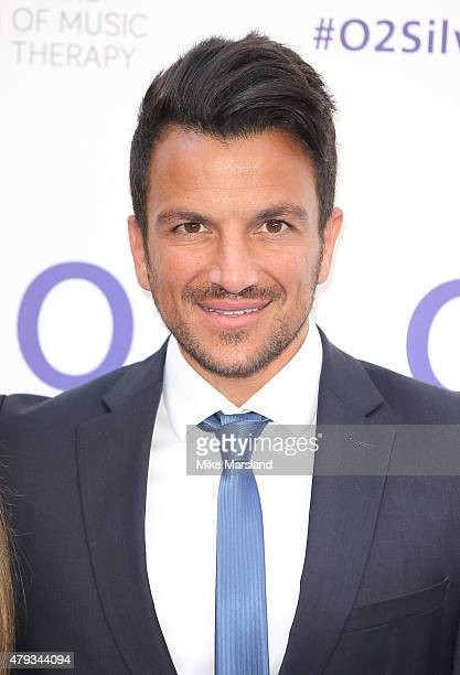 Peter Andre arrives at the Nordoff Robbins O2 Silver Clef Awards at The Grosvenor House Hotel on July 3 2015 in London England