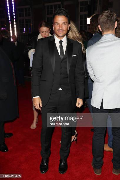 Peter Andre arrives on the red carpet of Pride of Britain 2019 at Grosvenor House Hotel on October 28 2019 in London England
