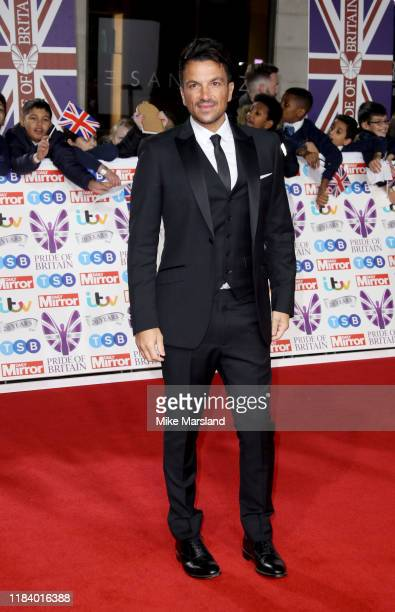 Peter Andre attends Pride Of Britain Awards 2019 at The Grosvenor House Hotel on October 28 2019 in London England