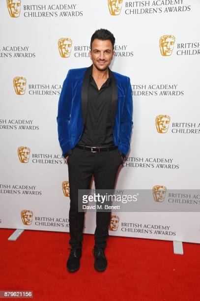 Peter Andre attends the BAFTA Children's Awards at The Roundhouse on November 26 2017 in London England
