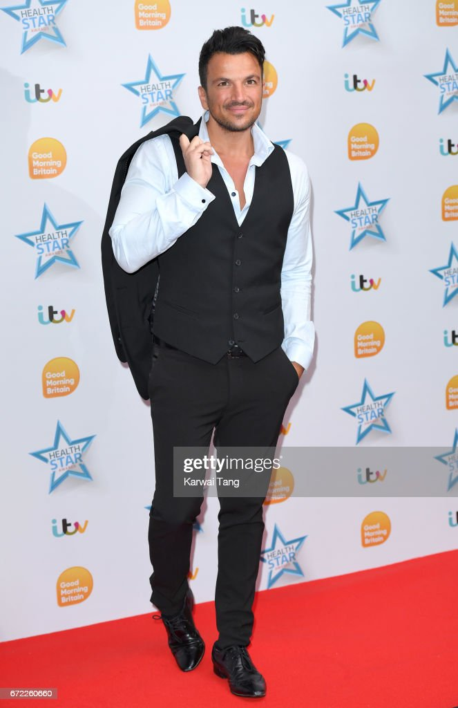Peter Andre attends the Good Morning Britain Health Star Awards at the Rosewood Hotel on April 24, 2017 in London, United Kingdom.