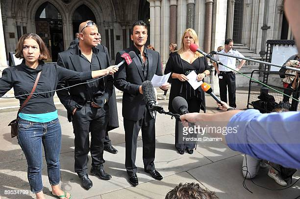 Peter Andre attends the High Court for his libel case against The Sunday People at High Court on July 31, 2009 in London, England.