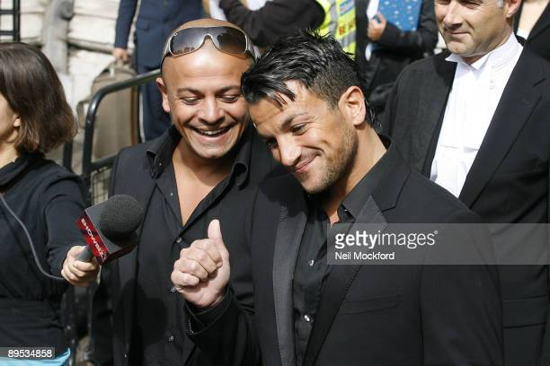 Peter Andre attends the High Court in his libel case against The Sunday People at High Court on July 31, 2009 in London, England.