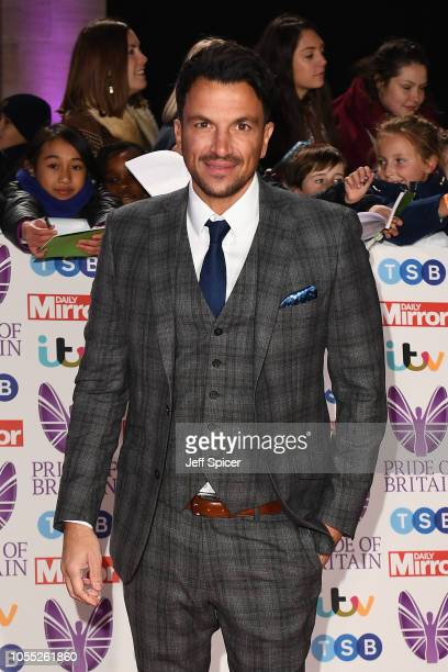 Peter Andre attends the Pride of Britain Awards 2018 at The Grosvenor House Hotel on October 29 2018 in London England