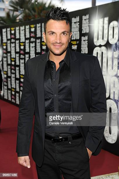 Peter Andre attends the World Music Awards 2010 at the Sporting Club on May 18 2010 in Monte Carlo Monaco