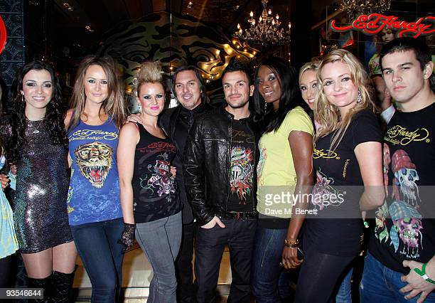 Peter Andre, Gary Berman and other celebrities attend the launch of the Ed Hardy store at Westfield Shopping Center, London. On December 01, 2009....