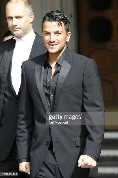 Peter Andre leaves the High Court in his libel case against The Sunday People at High Court on July 31, 2009 in London, England.