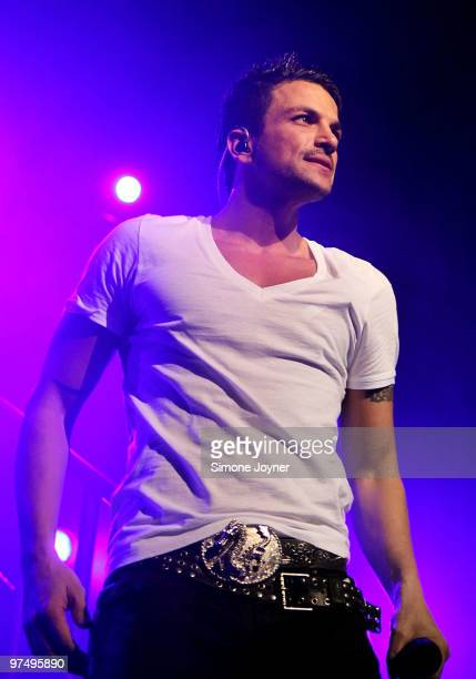 Peter Andre performs at Indigo2 at O2 Arena on March 6 2010 in London England