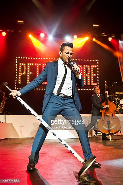 Peter Andre performs on stage at Royal Albert Hall on October 6 2014 in London United Kingdom