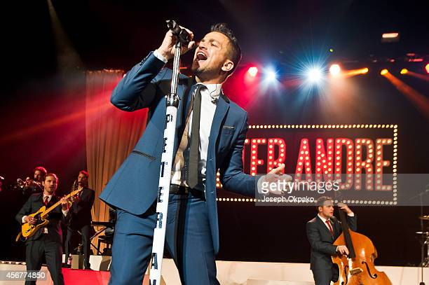 Peter Andre performs on stage At The Royal Albert HallPeter Andre Performs at Royal Albert Hall on October 6 2014 in London England