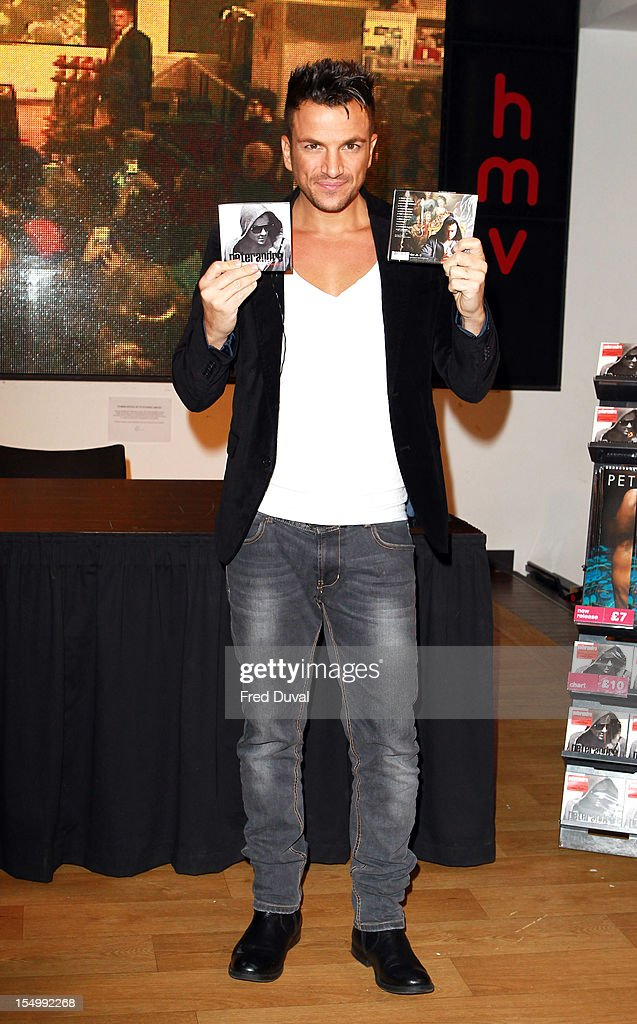 Peter Andre Peter Andre meets fans and signs copies of his album 'Angels & Demons' at HMV, Oxford Street on October 30, 2012 in London, England.