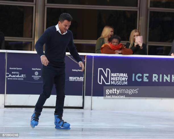 Peter Andre seen Ice Skating at the Natural History Museum Ice Rink on November 6 2017 in London England