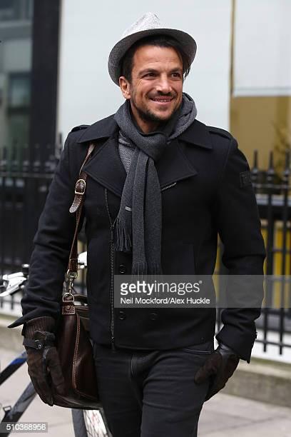 Peter Andre seen leaving Heat Radio Studios on February 15 2016 in London England