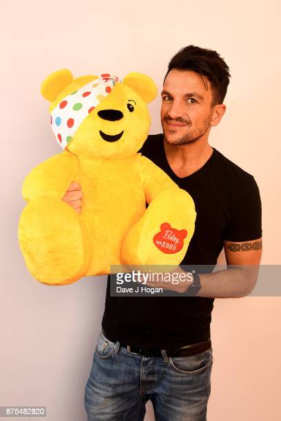 Peter Andre shows support for BBC Children in Need at Elstree Studios on November 17 2017 in Borehamwood England