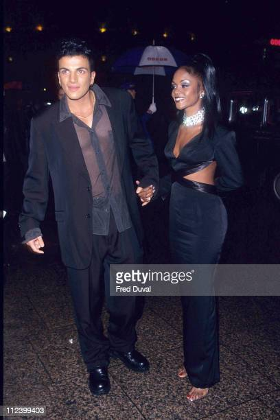 Peter Andre with girlfriend Kim during 'Hercules' London Film Premiere October 1 1997 at Odeon Leicester Square in London Great Britain