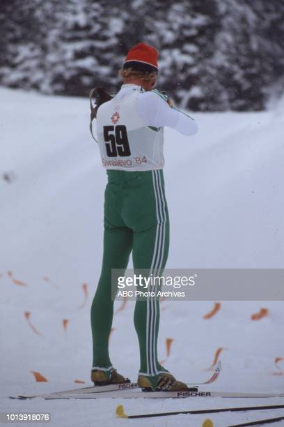 Peter Angerer competing in the Biathlon event at the 1984 Winter Olympics / XIV Olympic Winter Games Igman Veliko Polje