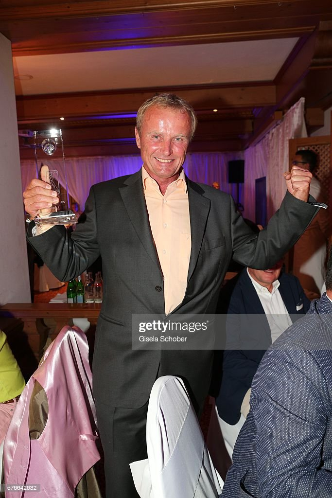 best loved 3935f dde2b Peter Angerer with award during the Kaiser Cup 2016 gala on ...