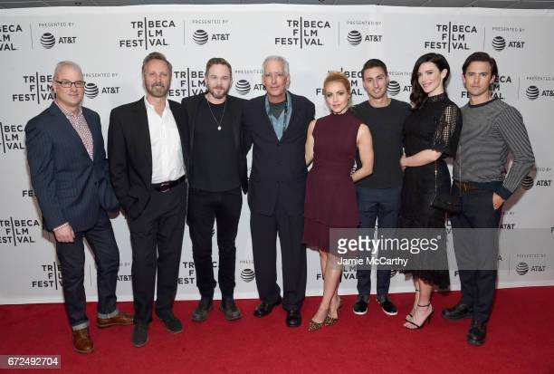 Peter Aperlo, Scott Mednick, Shawn Ashmore, Clay Staub, Amanda Schull, Skyler Mednick, Bridget Regan and Milo Ventimiglia attend the 'Devil's Gate'...
