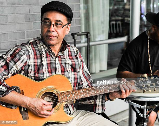 Peter Archer performs during Make Music Day Uptown Funk/Street Studio Harlem at Mist Harlem on June 21 2016 in New York City