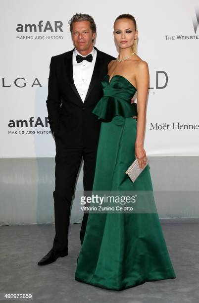 Peter Bakker and Natasha Poly attend amfAR's 21st Cinema Against AIDS Gala Presented By WORLDVIEW BOLD FILMS And BVLGARI at Hotel du CapEdenRoc on...