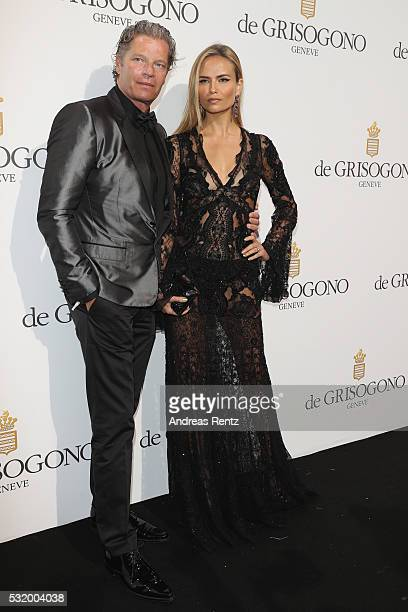 Peter Bakker and Natasha Poly attend the De Grisogono Party during the annual 69th Cannes Film Festival at Hotel du CapEdenRoc on May 17 2016 in Cap...