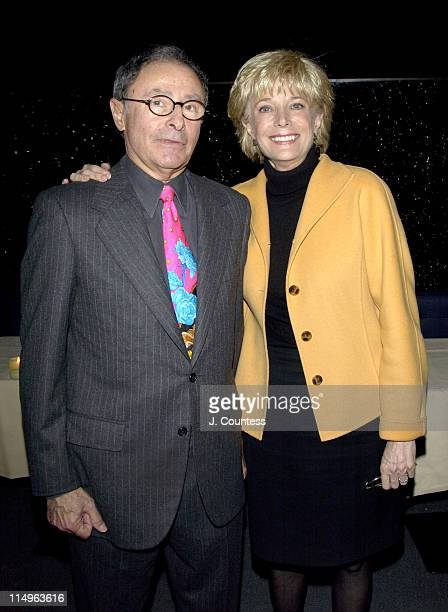 Peter Bart and Lesley Stahl during Peter Bart's Dangerous Company Book Release Party at Four Seasons Hotel in New York New York United States