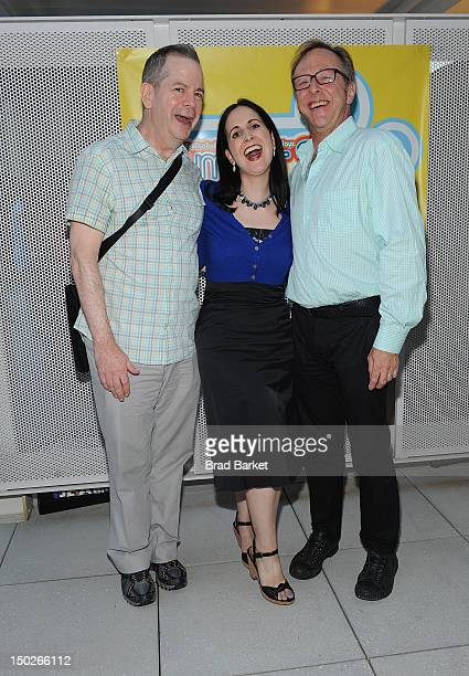 Peter Bartlett Stephanie D'Abruzzo and Edward Hibbert attend the 6th Annual Summer Shorts Cast Company Reception at Museum Tower on August 13 2012 in...