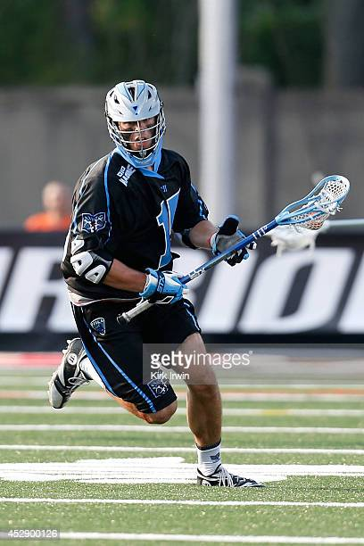 Peter Baum of the Ohio Machine controls the ball during the game against the Denver Outlaws on July 26 2014 at Selby Stadium in Delaware Ohio
