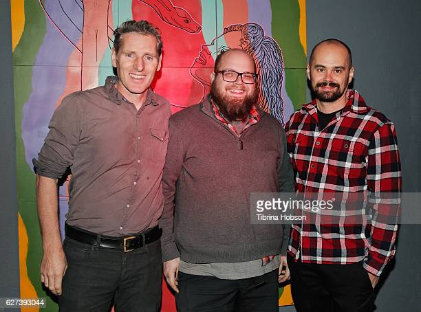 Peter Baxter Deron Williams and Doug Crocco attend the Slamdance DIG Showcase at Big Pictures Los Angeles on December 2 2016 in Los Angeles California