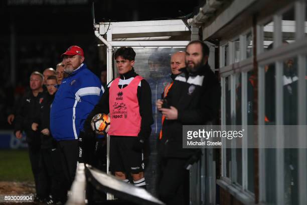 Peter Beadle the manager of Hereford looks on from the bench during the Emirates FA Cup second round replay match between Hereford FC and Fleetwood...