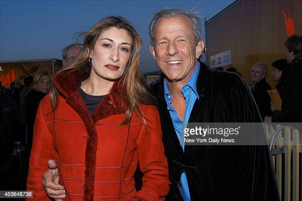 Peter Beard and his wife Nejma arrive at the Grand Chapiteau in Randall's Island Park to see Cirque du Soleil's new production Varekai