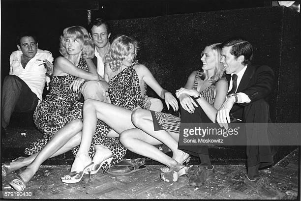 Peter Beard and models at Studio 54 c 1978 in New York City