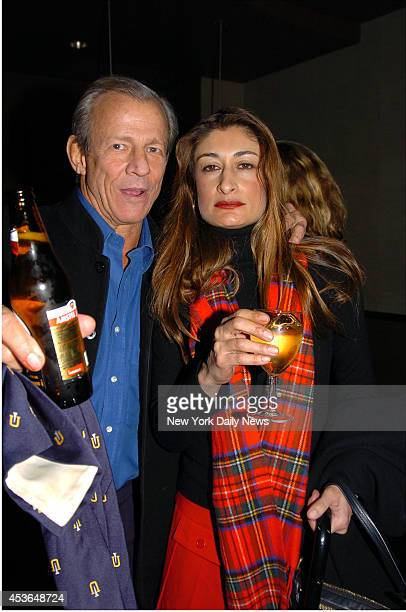 Peter Beard and wife Nejma at the Movie Screening The Sea Inside hoted by Julian Schnabel at the Tribeca Grand Hotel