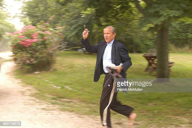 Peter Beard attends Junko Yoshioka Presents Her Evening Wear Collection at Peter and Nejma Beard Residence on July 16 2005 in Montauk NY