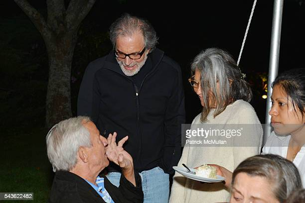 Peter Beard Clifford Ross and Jane Wenner attend LANA JOKEL Dinner for PETER BEARD in Honor of his Exhibit at GUILD HALL at Private Residence on June...