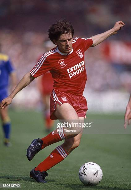 Peter Beardsley of Liverpool in action during the FA Cup Final against Wimbledon at Wembley Stadium in London on 14th May 1988 Wimbledon won 10