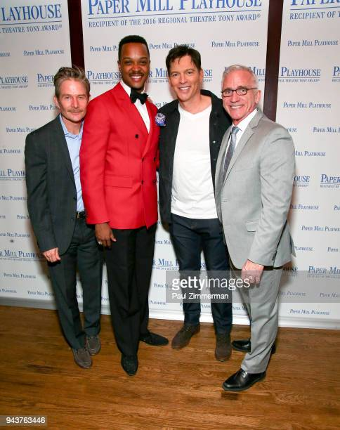 Peter Benson J Harrison Ghee Harry Connick Jr and Mark S Hoebee attend 'The Sting' Opening Night at South Mountain Tavern on April 8 2018 in South...
