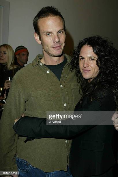 Peter Berg and Amanda Demme during Anoushka Fisz 'Sleep With Me' Art Show Opening at Ikon Gallery in Santa Monica California United States