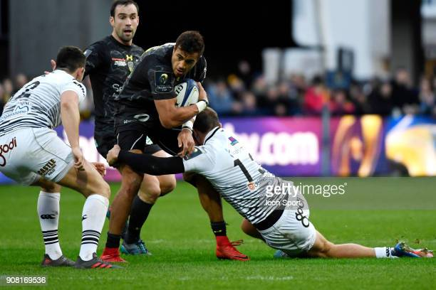 Peter Betham of Clermont during the Champions Cup match between ASM Clermont and Osprey at Stade Marcel Michelin on January 20 2018 in...