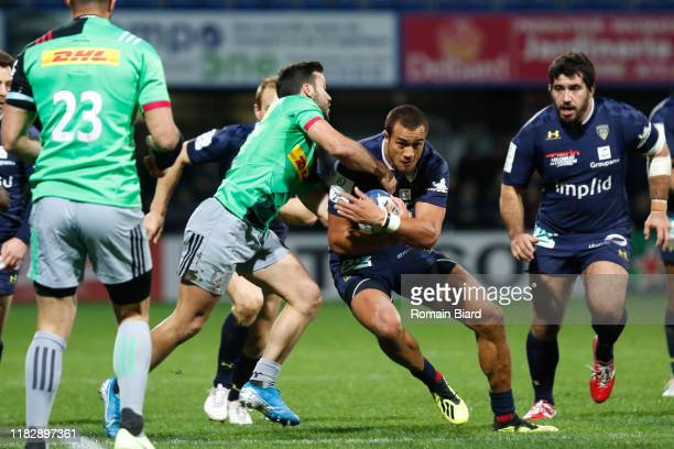 Peter BETHAM of Clermont during the European Rugby Champions Cup Pool 3 match between ASM Clermont Auvergne and Harlequin FC on November 16 2019 in...